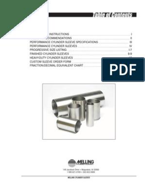 Engine Cylinder Liner-Stock Melling CSL1160