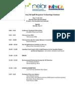 Oil Spill Response Technology Seminar Event Agenda