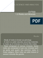 1.3 Rocks and Minerals (2)