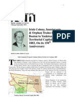 Irish Colony, Immigrants & Orphan Trains From Boston to Yankton, Dakota Territorial Capital 1861-1883