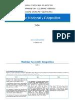 Realidad Nacional y Geopolítica 2011-2013 Ecuador & el mundo
