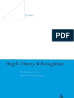 Sybol Anderson Hegel's Theory of Recognition From Oppression to Ethical Liberal Modernity