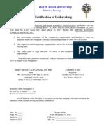 Sample individual Certification of Undertaking 2013.docxadDD