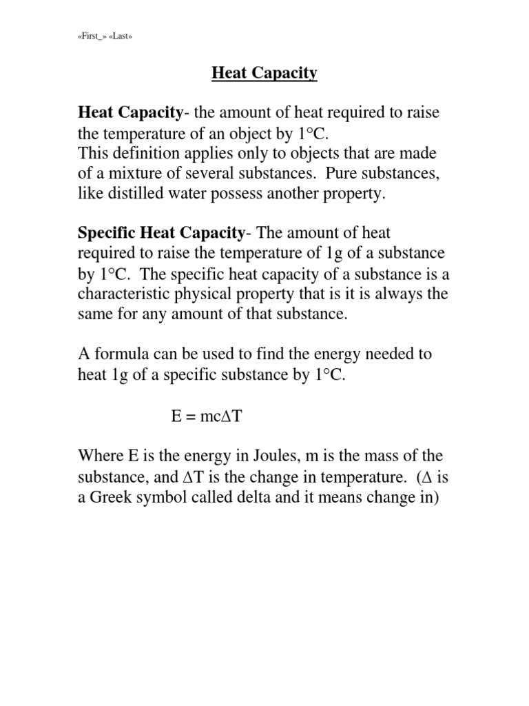 Heat capacity and latent heat latent heat heat buycottarizona Image collections