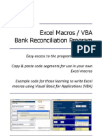 Excel Macros / VBA (Bank Reconciliation Program)
