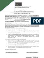 Acta de Apoyo Rio Chancay - Eten