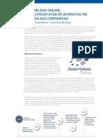 """Artigo """"Assembleias Online:Participação ativa de acionistas no dia a dia das companhias"""" (MZ Group)"""