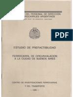 Estudio de Factibilidad FFCC de Circunvalación Bs As 1985