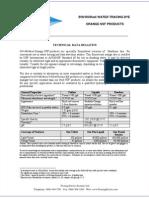 Dye Tracing Data Sheet, Orange NSF Tablet Powder Liquid