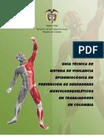 GUÍA TÉCNICA DE SISTEMA DE VIGILANCIA EPIDEMIOLÓGICA EN PREVENCIÓN DE DESÓRDENES MUSCULOESQUELÉTICOS EN TRABAJADORES EN COLOMBIA