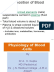 Blood Physiology Part I -Cells