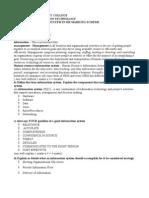Information System Marking Scheme