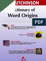 Diccionario Sobre El Origen de Las Palabras