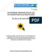 semaine sans pesticides 20-30 mars 2009