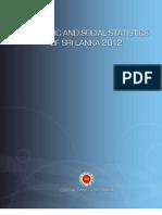 Economic & Social Statistics of Sri Lanka - 2012