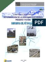 9 (PRAA) Disponibilidad Hidrica de Shullcas
