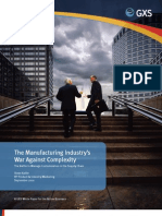 The Manufacturing Industry's War Against Complexity