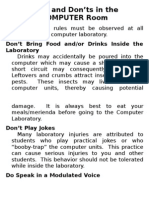 Safety Rules in ComLab