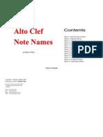 Alto Clef Worksheets
