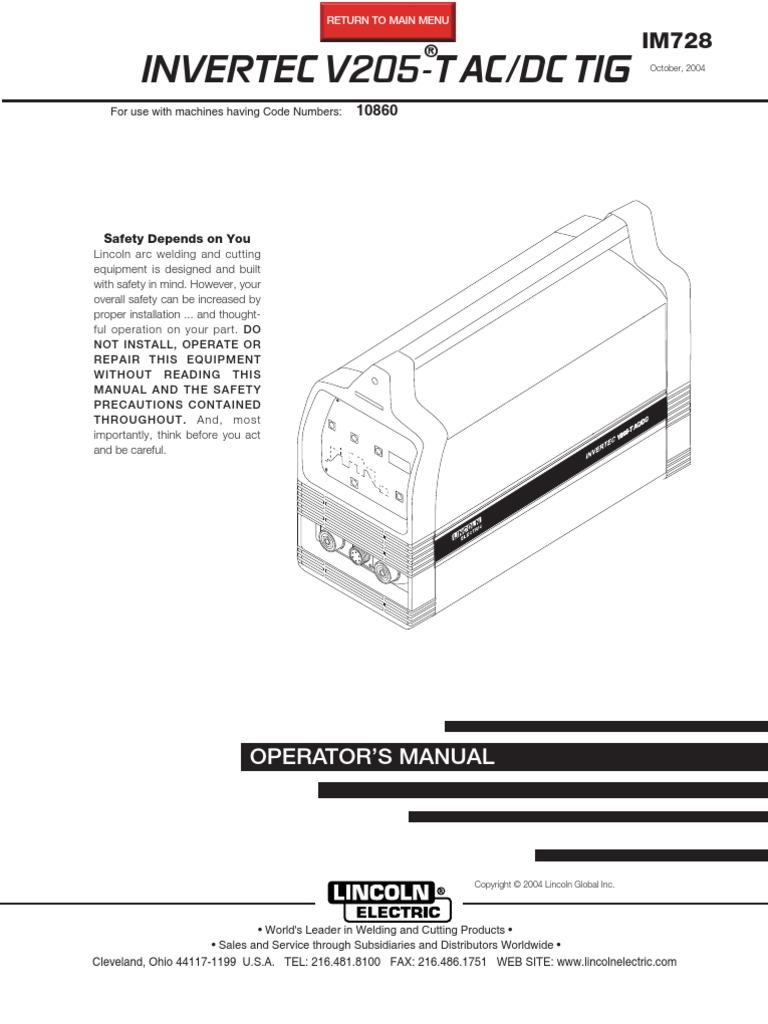 Lincoln v205-t Op Man | Welding | Electrical Connector on lincoln welder plug, lincoln welder air cleaner, lull wiring diagram, mig welder diagram, arc welder diagram, lincoln welders parts and manuals, towmotor wiring diagram, apache wiring diagram, miller 30a spool gun diagram, clark wiring diagram, 1978 lincoln continental vacuum diagram, ingersoll rand wiring diagram, lincoln welder schematic, sullair wiring diagram, dynapac wiring diagram, lincoln welder parts list, harley rake wiring diagram, lincoln welder serial number, lincoln welder fuel pump, welder equipment diagram,