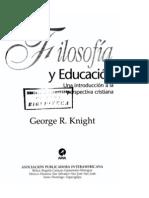Filosofia y Educacion-gerge knight.pdf