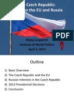 Czech Republic Lecture by Matej Jungwirth