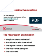 Progression Exam