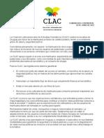 Declaracion en Apoyo a Uruguay-CLAC