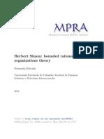 4. Estrada 2012 - Herbert Simon - bounded rationality y teoría de las organizaciones