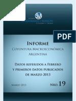 Informe de Coyuntura Macroeconómica N° 19 Marzo 2013