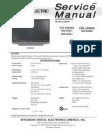 mitsubishi  V32-V32L Service Manual wd-62531