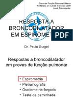 RESPOSTA A BRONCODILATADOR EM ESPIROMETRIA