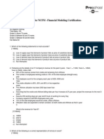 NSE Financial Modeling Sample Exam Paper1