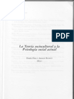 Teoría sociocultural y la psicología actual
