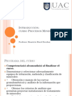 Introducción curso Procesos mineralógicos