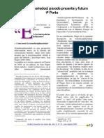 Trandisciplinariedad - Pasado Presente y Futuro P1