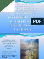 La Geologia Como Medio de Produccion e Interpretacion