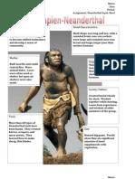master neanderthal detailed input