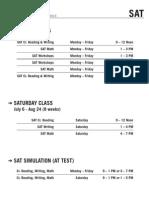 2013 Summer II Schedule Cresskill - SAT (Rev.0)