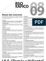 Bases del Concurso Fotográfico 08'09