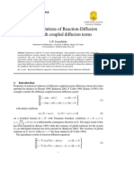 52-149-1-PBNumerical Solutions of Reaction-Diffusion systems with coupled diffusion terms