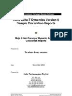 Conveyor Dynamic Analysis Case Study