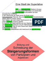 """Powerpoint-Präsentation zum Thema """"Komparation von Adjektiven und Partizipien"""""""