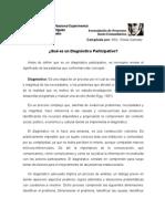 Diagnóstico Participativo - proyecto sociocomunitario