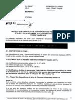 COG DGI Instruction Application-loi de Finances 2012