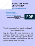 MOVIMIENTO DEL AGUA SUBTERRÁNEA