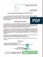 El PA pregunta en Diputación por la paralización de la nueva residencia de ancianos de La Línea