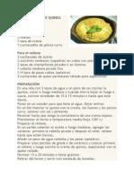 Receta Pastel de Quinoa