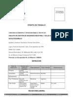 Formulario de Oferta de Trabajo CNT EP