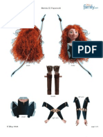 Brave Merida 3d Papercraft Printable 0412 (1)